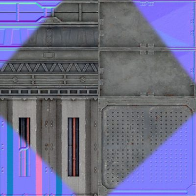 Stormrise metal panels texture