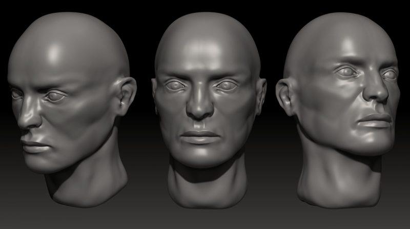 Zbrush Male Head
